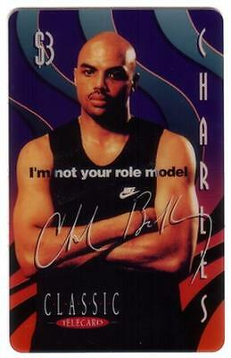 $3. Charles Barkley Basketball: 'I'm not your role model' Phone Card