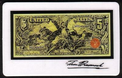 5m Tim Prusmack Design of 1896 USA $5. Currency: Educational Note Phone Card