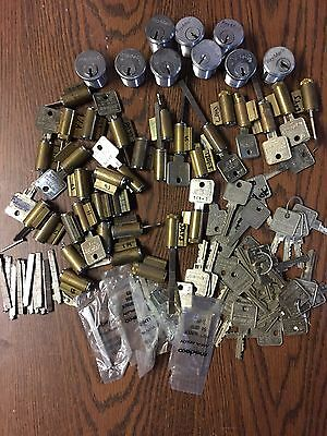 Medeco Lot 40 + Cylinders Keys Tail Pieces