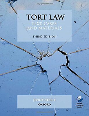 Tort Law: Text, Cases, and Materials, Good Condition Book, Steele, Jenny, ISBN 9