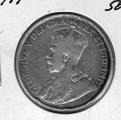 1919 Canada 50 C.  Very nice looking coin. Includes Free shipping in US.