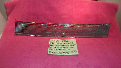 1965-1966 Cadillac Fleetwood Deville Genuine Driver Cowl Vent Trim Free Shipping