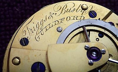 Triggs & Busby Guildford Working  VERGE Fusee Pocket Watch Movement circa 1820