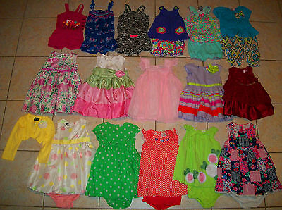 Baby Girls Clothes/Outfits/Dresses Lot of 22 Size 12 Months summer