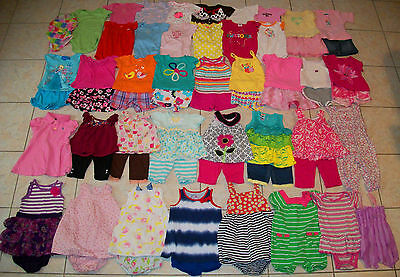 Baby Girls Clothes/Outfits/Dresses Lot of 62 Size 12/12-18 Months Summer