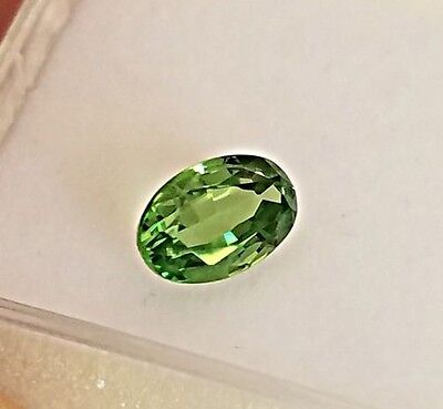 Natural 1.01 Carat Green Tsavorite Garnet Genuine Loose stone Oval gemstone