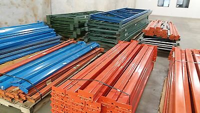 Interlake Teardrop Pallet Racking -- LOT -- See Add for Piece Count (EQ0522-A)