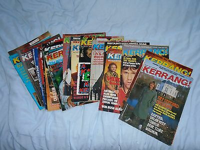 Kerrang! Magazines Job Lot Of Early Issues.