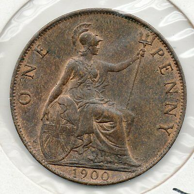 1900 Great Britain 1P. Very nice looking coin. Includes Free shipping in US.