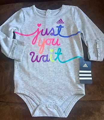 Adidas One Piece  Baby Girls  size 9 months new with tags