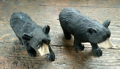 Carved Wooden Bears 'black Forest Style'