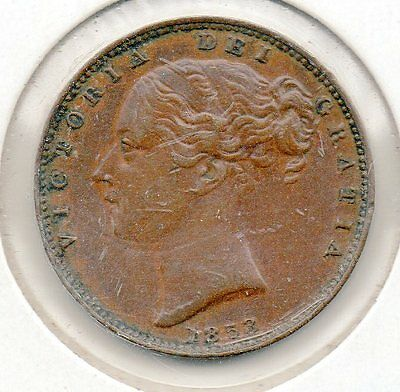 1853 ww Great Britain Farthing Free Shipping In The uSA