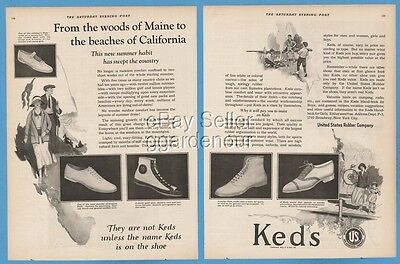 1923 Keds Canvas Shoes From the Woods of Maine to the beaches of California ad