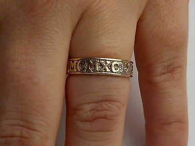 9ct Gold Decorative Band Ring Metal Detecting Find.