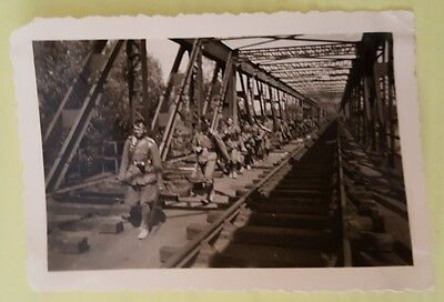 original ww2 german photo german soldiers on the march.