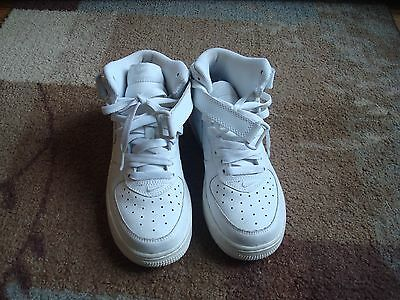 Kids Nike Air Force 1 Mid Shoes High Tops White 5Y(youth)~L@@K!!!!