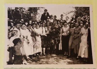 original ww2 german photo german officer with people in traditional dress