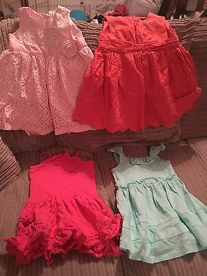 Girls 12-18 Months Summer Dress Bundle 5 Items