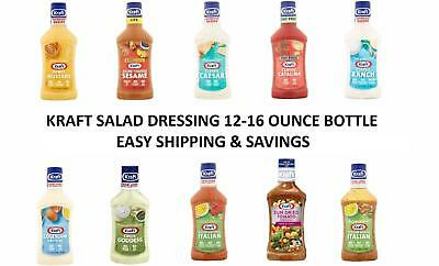 Kraft Salad Dressing MANY options Flavored Dressing 16 Oz Pick 1 Free Shipping