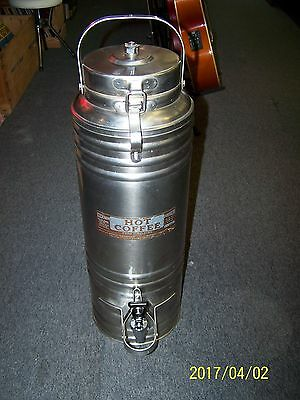 Vintage Cecilware Stainless Steel PORTABLE COMMERCIAL Coffee Dispenser - N/R !!!