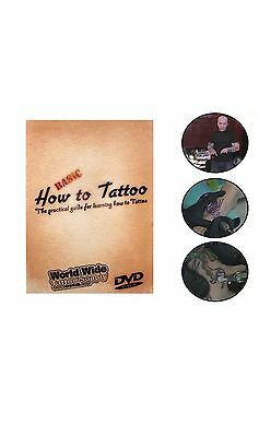 LEARN HOW TO TATTOO Basic Training Guide 1-Disc DVD Supply By Matt Bennet