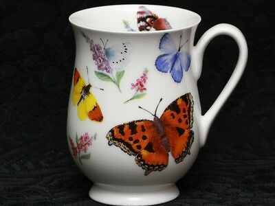 ROY KIRKHAM BUTTERFLY GARDEN Fine Bone China ELEANOR Mug #2a