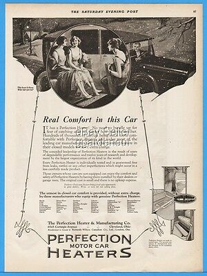 1922 Perfection Heater Co Cleveland OH Ladies Dressed For Party Car Print Ad