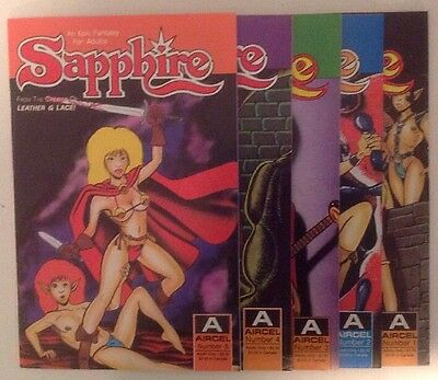 Sapphire Lot #s 1-9 from Aircel Comics Avg VF/NM