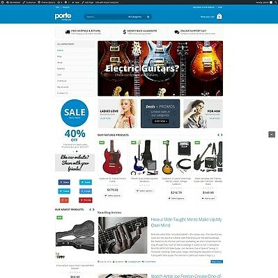Electric Guitars Accessories-Established Automated eCommerce Website