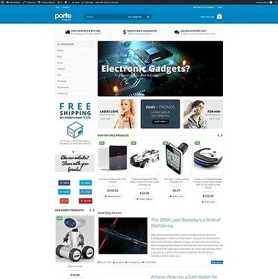 Electronic Gadget Supplies - Established Automated eCommerce Website