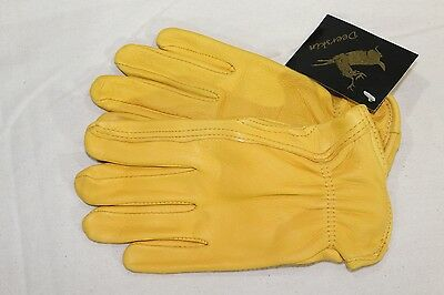 North American Trading Full Grain Deerskin Leather Driver Work Gloves x-small