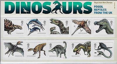 2013 Dinosaurs Stamps in Royal Mail Presentation Pack no.490
