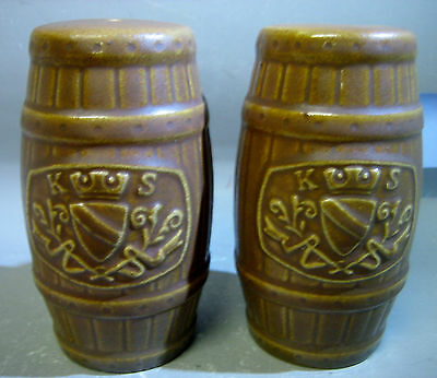 Pair Elischer Australian pottery salt and pepper shakers