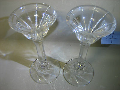 Pair glass / crystal candle holders