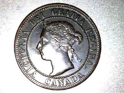 1899 Canada  Large Cent   Double 9 Variety    #xv234