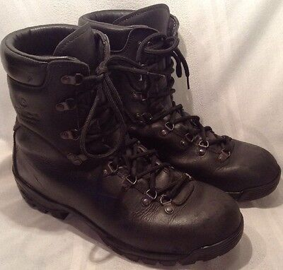 Alico Men's Black Leather Hiking Boots Made In Italy Size 11 *See Description*