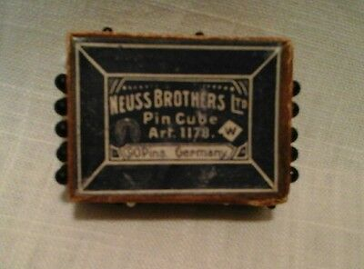 NEUSS BROTHERS  Pin Cube Rectangle Glass Head PINS, Germany