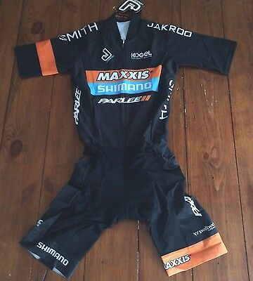 Jakroo MAXXIS Shimano Parlee Pro cyclocross Team Skin suit Short Sleeves Small