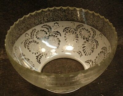 """C Vintage Gas Etched Glass Bowl Light Shade Ceiling Sconce Fixture 4"""" Fitter"""
