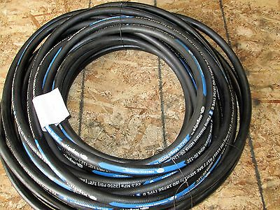"Gates Hydraulic Hose 8M3K 1/2"" Mega3000 One Wire Braid Hose 100R17 75 Feet"