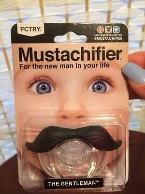 Mustache Pacifier Toddler Gift Baby Boy Girl Infant Cute Funny Nipple Moustache