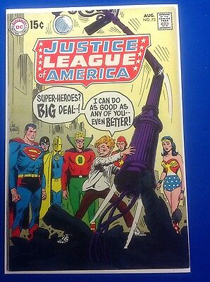Justice League of America #73 (Aug 1969, DC) SILVER AGE HIGH GRADE BEAUTY!