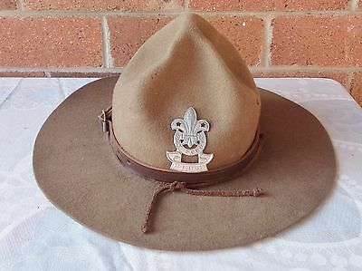 Vintage Boy Scouts Hat With  Badge #2