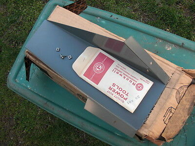 """Delta Rockwell 4"""" Jointer Dust Chute & Mounting Hardware NOS"""