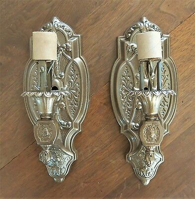 Antique Art Deco Wall Sconce Pair Refinished