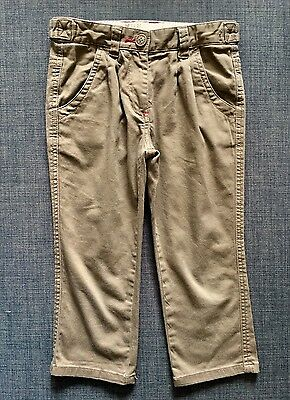 Ted Baker Girls Khaki Chino Trousers. Size 5-6 years. RRP £48.