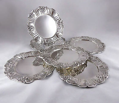 1390-201: Set of 6 REED & BARTON Francis I Sterling Silver Bread Plates