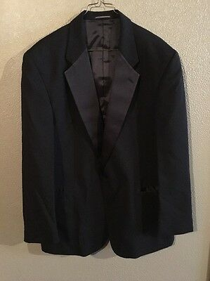 Neil Allyn Men's 46R Black Wool Tuxedo Jacket Formal Occasion Evening Blazer