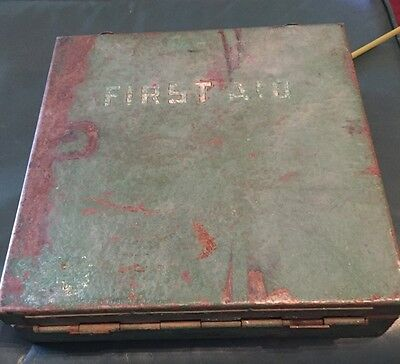 Vintage First Aid Kit Metal Box And Contents