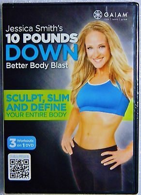 Brand New GIFT Ready Jessica Smiths 10 Pounds Down Better Body Blast  DVD,2012
